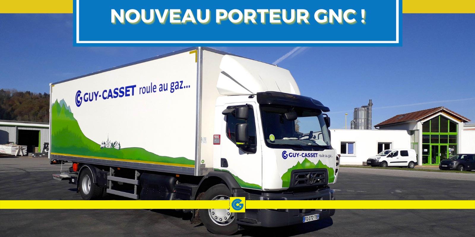 Un porteur GNC a rejoint notre flotte de véhicules!