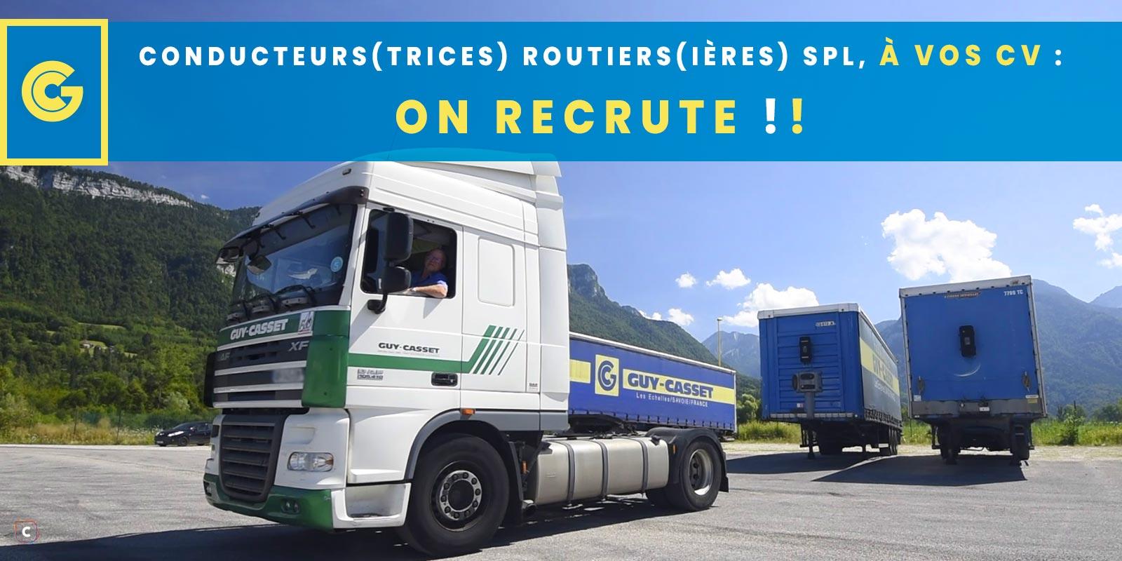 On recrute: conducteur(trice) routier(ère) SPL