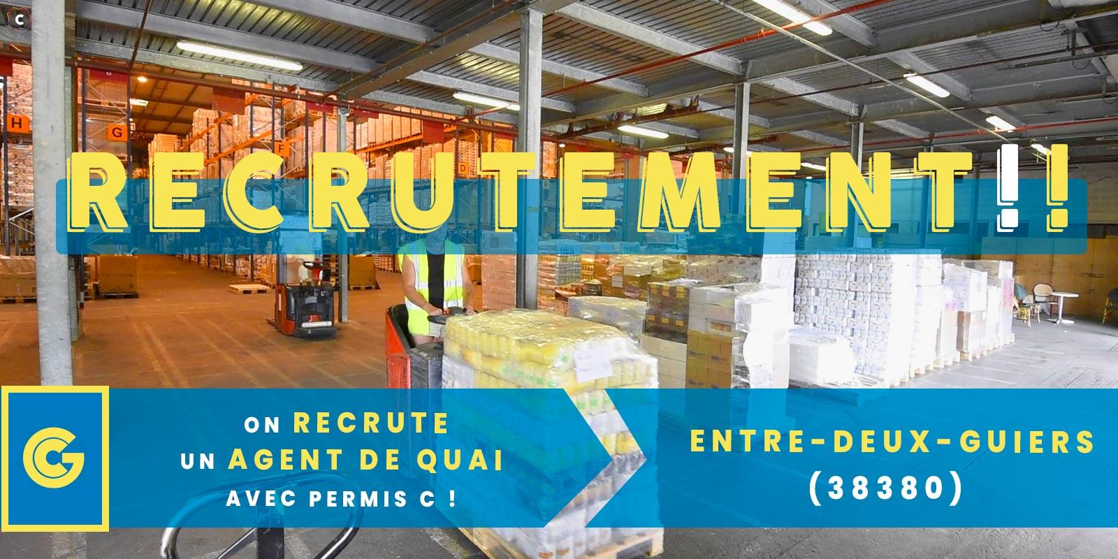 Offre d'emploi: agent de quai H/F avec permis C